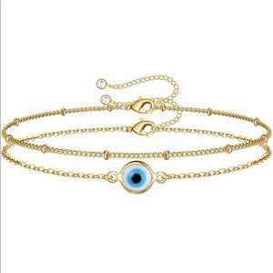 Layered Boho Bracelets Evil Eye